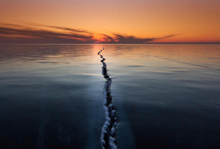Yüzeyin ayrılışı, Baykal Gölü