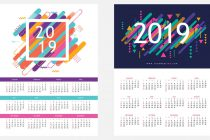 2019-calendar-vector-free-download